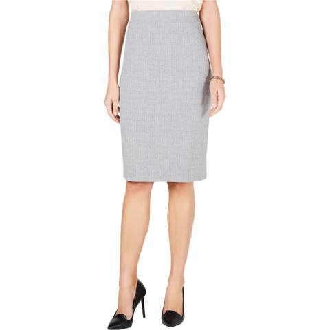Tommy Hilfiger Womens Lush Life Pencil Skirt, grey, X-Large