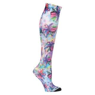 Nursemates Women's Mild Compression Socks - Artistic Print Knee-High Stockings - One size