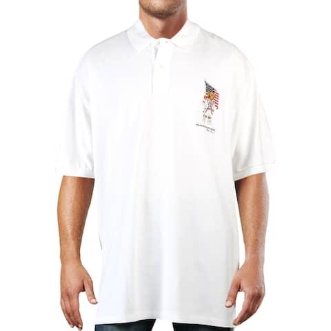 Polo Ralph Lauren Mens Big & Tall Polo Shirt Cotton Logo - White