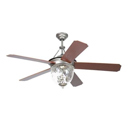 "Ellington Fans CAV52 Cavalier 52"" 5 Blade Hanging Indoor Ceiling Fan with Reversible Motor, Blades, Light Kit, Down Rod and"