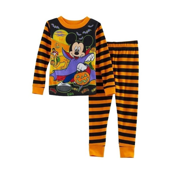 00a2222e1 Shop Disney Little Boys Mickey Mouse PJ 2-Piece Halloween Cotton Pajama Set  - Free Shipping On Orders Over $45 - Overstock - 20980189