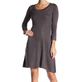 Premise Gray Womens Size Large L Scoop Neck Solid Sweater Dress
