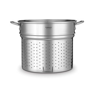 Cuisinart SS112-33GBCP Steamer Insert with Self-Draining Clip, 20 quart, Stainless Steel