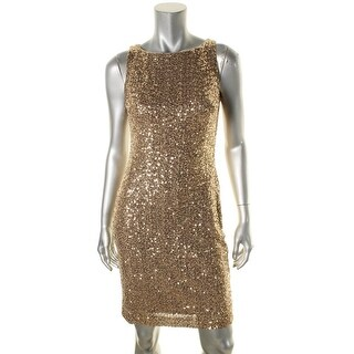 Lauren Ralph Lauren Womens Evening Dress Sequin Cocktail