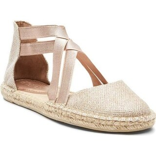 Kenneth Cole Reaction Women's How To Dance Espadrille Flat Rose Gold Fabric