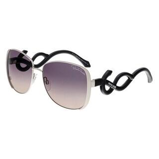 Roberto Cavalli RC910S MINKAR 16B Silver Square Sunglasses
