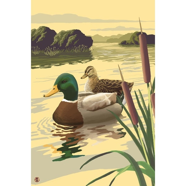 Mallard Ducks - LP Artwork (100% Cotton Towel Absorbent)