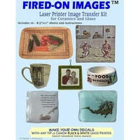 Heirloom Ceramics Press Fired-On Images Multi-Surface Fired On Image Transfer Paper, 8-1/2 X 11 in, Pack of 10