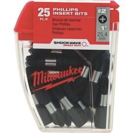 """Milwaukee 25Pk #2 1"""" Phillips Bit"""