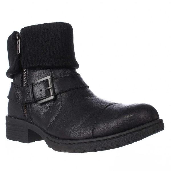Born Nisida Cuffed Combat Boots, Black