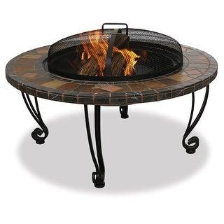 UniFlame Corporation WAD820SP Outdoor Fireplace - Black/brown