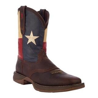 "Durango Boot Men's DB4446 11"" Patriotic Dark Brown/Texas Flag"