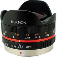Rokinon 7.5mm f/3.5 Ultra Wide-Angle Fisheye Lens for Micro 4/3 (Black) - Black
