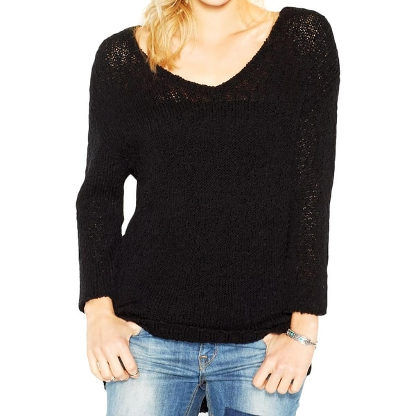 Lucky Brand Womens Pullover Sweater Knit Slub