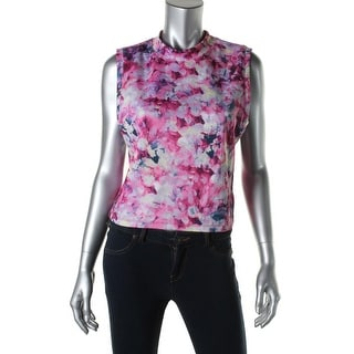 Kiind Of Womens Seymour Matte Jersey Printed Crop Top - L