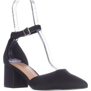 Call It Spring Trivio Ankle Strap Block Heel Sandals, Black