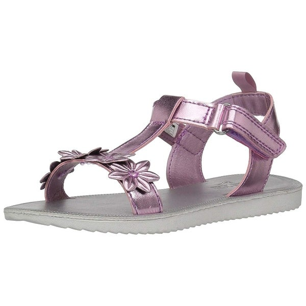 41de1c4214f5 Shop OshKosh B Gosh Kids Colette Girl s Flower T-Strap Sandal - Free ...