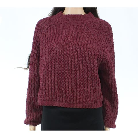 Cotton Emporium Womens Large Mock Neck Knitted Sweater