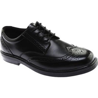 Nunn Bush Men's Eagan 84155 Wing Tip Oxford Black Leather