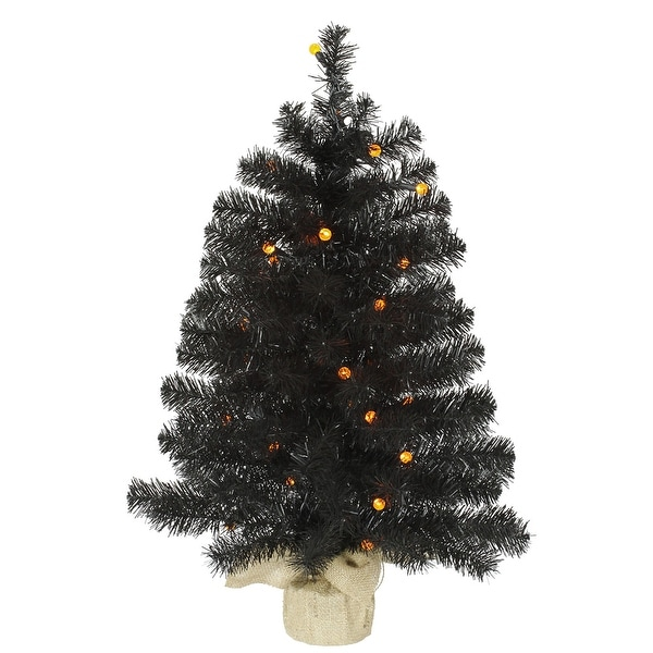 "30"" Black Pine Tree G12 30LED Orange"