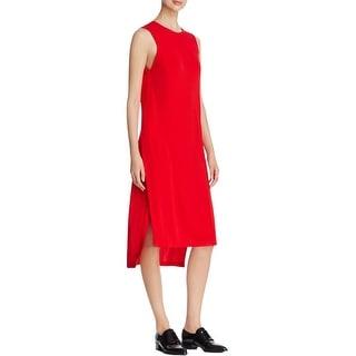 DKNY Womens Casual Dress Crepe Hi-Low - l