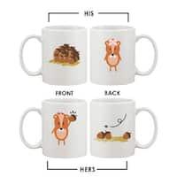 Funny Squirrel Couple Mugs Cute Graphic Design Ceramic Coffee Mug Cup 11 oz