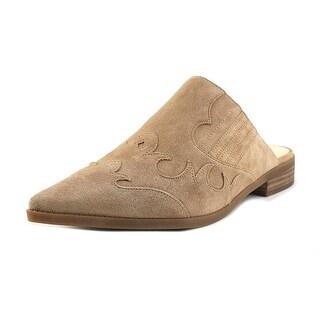 Nine West Sadrah Women Pointed Toe Leather Tan Mules