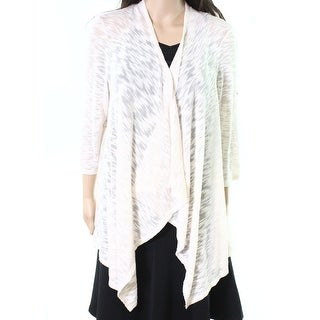 John Paul Richard NEW White Ivory Women's Size Medium M Open Cardigan