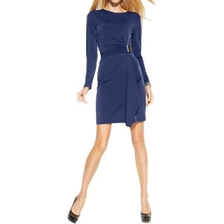 MICHAEL Michael Kors Womens Wear to Work Dress Matte Jersey Gathered