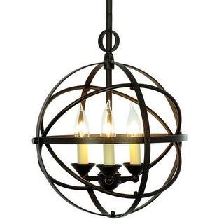 Miseno MLIT155389 3-Light Cage Orb Chandelier