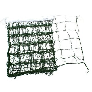 White Trim Square Mesh Hole Green Nylon Braid Volleyball Net 9.3 Meter x 88cm