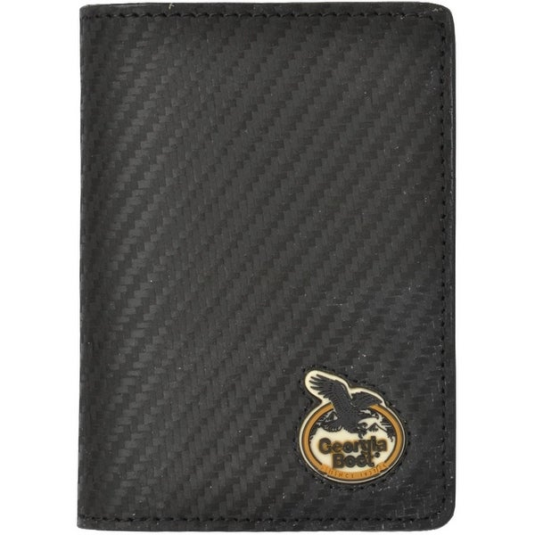 Georgia Wallet Men Leather Bifold Tec Tuff Carbon Fiber Black - One size