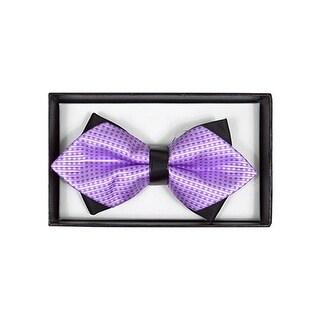Men's Lavender Geometric Diamond Tip Bow Tie - DBB3030-32
