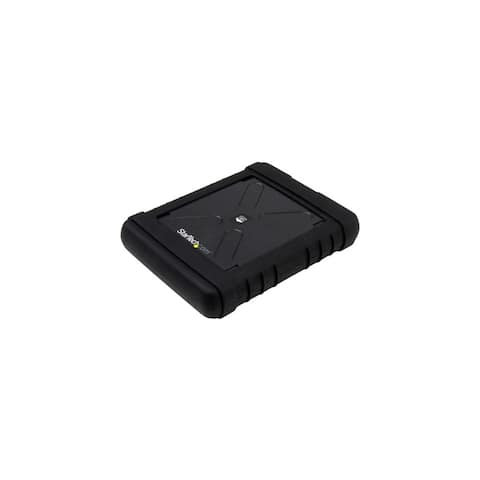 StarTech S251BRU33 StarTech.com Rugged Hard Drive Enclosure - USB 3.0 to 2.5in SATA 6Gbps HDD or SSD - UASP - 1 x Total Bay - 1