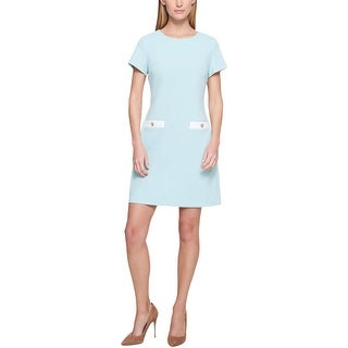 Link to Tommy Hilfiger Womens Casual Dress Faux Pocket Short Sleeves Similar Items in Dresses