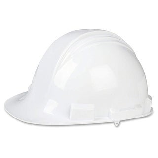 North Safety A59010000 White Peak Hard Hat with 4 Point Pin Lock
