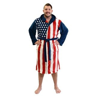 USA Flag Fleece Robe