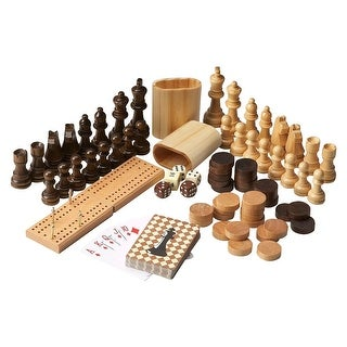 Offex Anatoly Wood Game Pieces - MultiColor