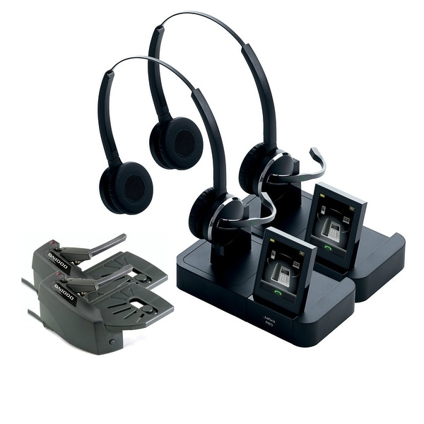Jabra Pro 9460 Duo Wireless Headset With Touchscreen For: Shop Jabra PRO9460 Duo Wireless Headset W/ GN1000 Lifter