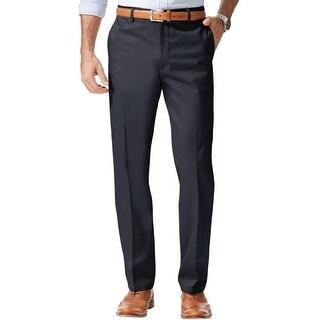 Dockers Mens Signature Khaki Casual Trouser Pants, blue, 30W x 32L - 30W x 32L