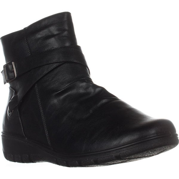 Easy Street Questa Comfort Ankle Booties, Black