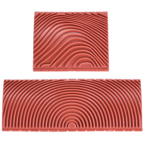 "Wood Graining Rubber Grain Tool Pattern Wall Art Painting DIY Red MS3 2Pcs - MS3 3+6"" 2in1 Set"