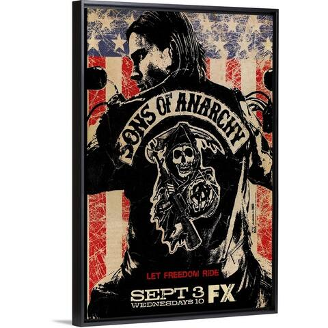 """""""Sons of Anarchy (2008)"""" Black Float Frame Canvas Art"""