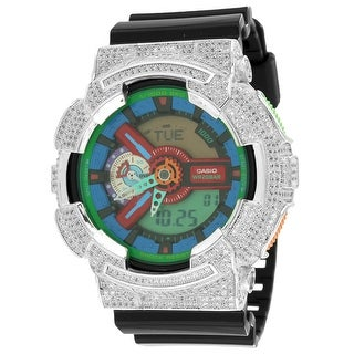 Mens GA110MC-1A Gshock Watch Iced Out Lab Diamonds G-Shock Resin Band 52mm