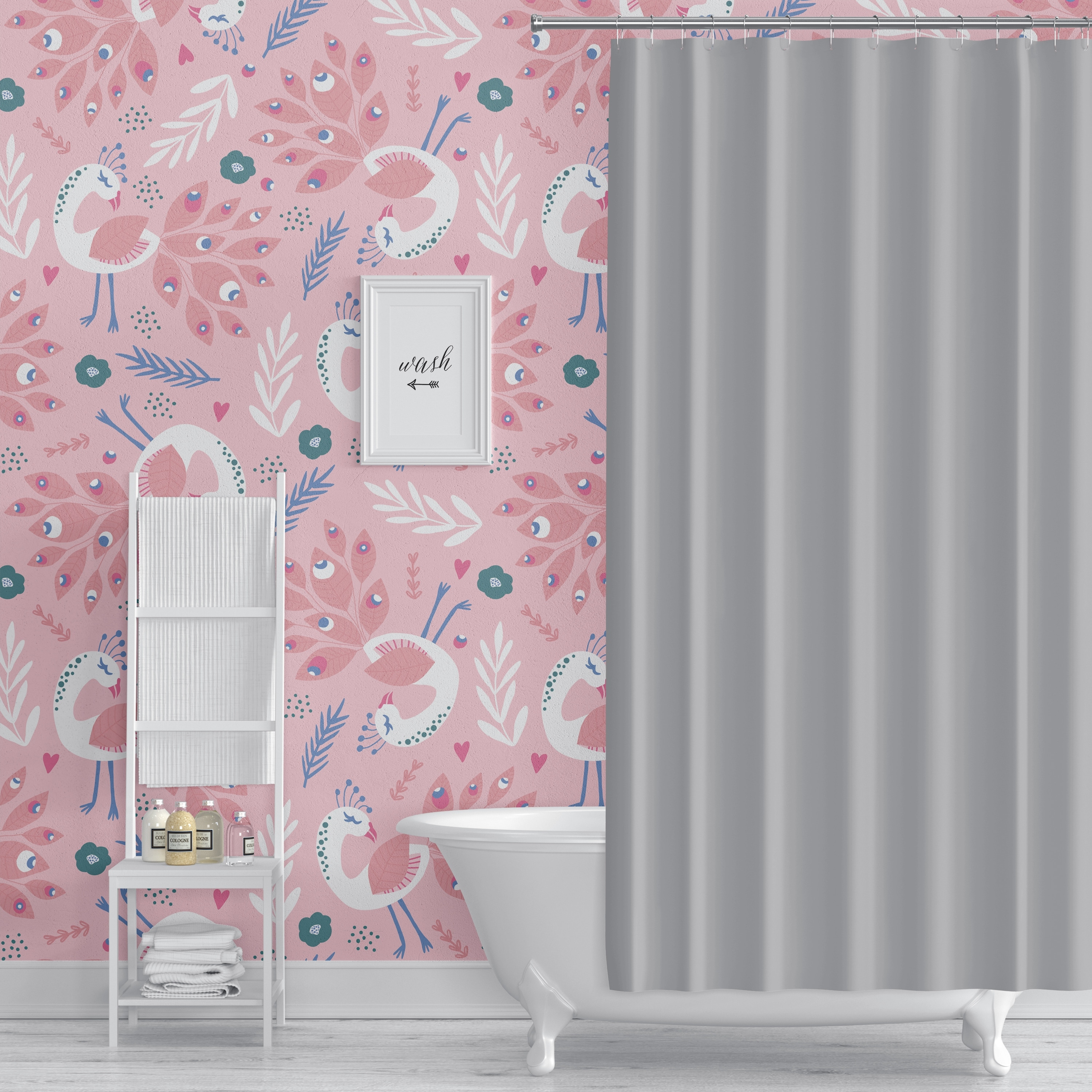 Shop Peacock Pink Peel And Stick Wallpaper By Kavka Designs 2 X 16 On Sale Overstock 31638051