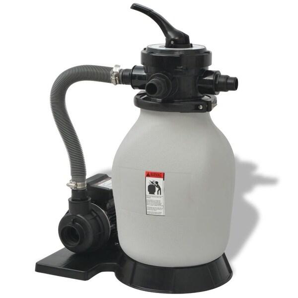 Shop vidaXL Swimming Pool Sand Filter w/ Pump 0.35 HP Pool Water ...