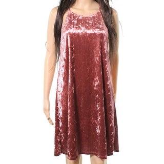 The Vanity Room Womens Small Petite Velvet Shift Dress