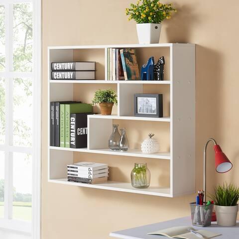 Large Rectangular White Shelf Unit