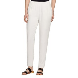 Eileen Fisher Womens Petites The Icons Pants Silk Crepe - pp