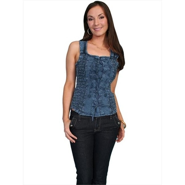 86492cdd7d Shop Scully Womens Cotton Lace-Up Cantina Tank
